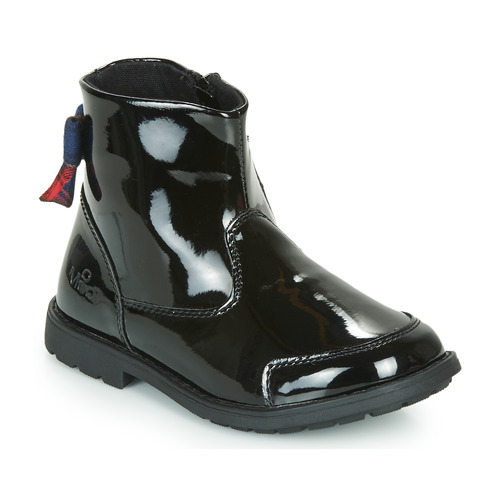 Shoes Girl Mid boots Mod'8 STELIA Black / Varnish / Red