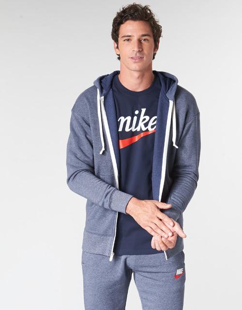 Clothing Men sweaters Nike M NSW HERITAGE HOODIE FZ Marine