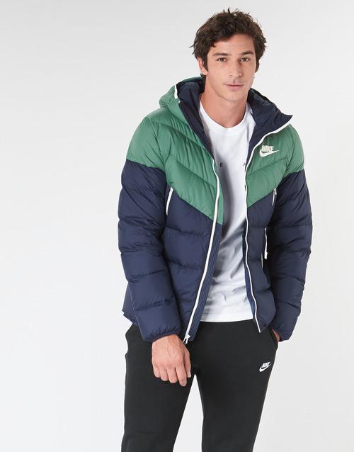 Clothing Men Duffel coats Nike M NSW DWN FILL WR JKT HD Marine / Green