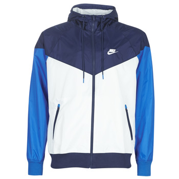 Clothing Men Macs Nike M NSW HE WR JKT HD Blue / White