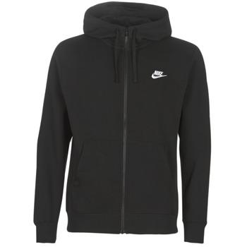 Clothing Men sweaters Nike M NSW CLUB HOODIE FZ BB Black