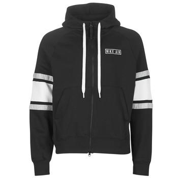 Clothing Men sweaters Nike M NSW NIKE AIR HOODIE FZ FLC Black