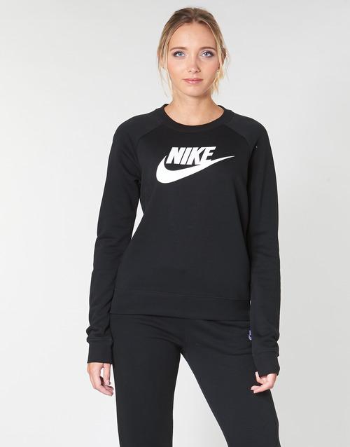 Clothing Women Sweaters Nike W NSW ESSNTL CREW FLC HBR Black