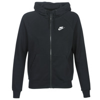 Clothing Women Sweaters Nike W NSW ESSNTL HOODIE FZ FLC Black