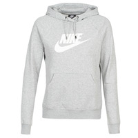 Clothing Women Sweaters Nike W NSW ESSNTL HOODIE PO  HBR Grey