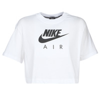 Clothing Women short-sleeved t-shirts Nike W NSW AIR TOP SS White