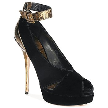 Shoes Women Heels Sebastian VELLURE Black / Gold