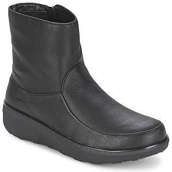 Shoes Women Boots FitFlop LOAFF SHORTY ZIP BOOT  BLACK