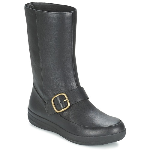 Shoes Women Mid boots FitFlop FF-LUX BIKER Black