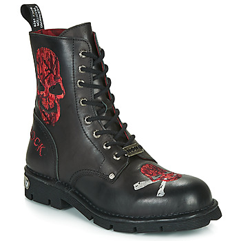 Shoes Men Mid boots New Rock MNEWMILI85 Black
