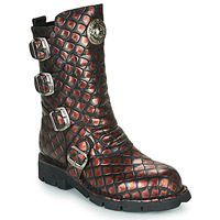 Shoes Women Mid boots New Rock M-373X Black / Red