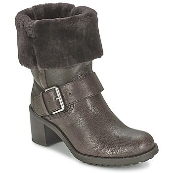 Shoes Women Mid boots Clarks PILICO PLACE DARK / Brown