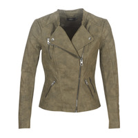 Clothing Women Leather jackets / Imitation leather Only ONLAVA Kaki