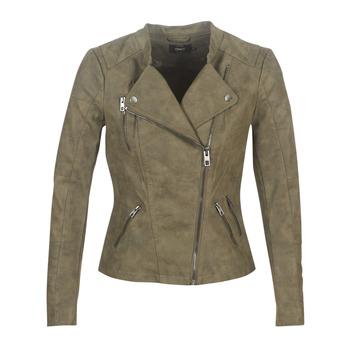 Clothing Women Leather jackets / Imitation leather Only ONLAVA Kaki