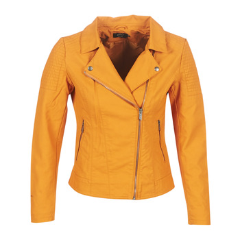 Clothing Women Leather jackets / Imitation leather Only ONLMEGAN Yellow