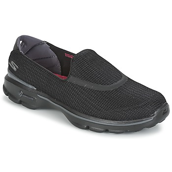 Shoes Women Slip ons Skechers GO WALK 3  BLACK