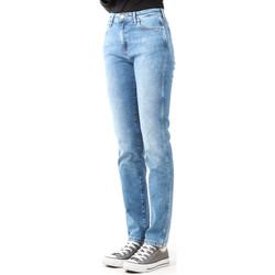 Clothing Women Skinny jeans Wrangler Boyfriend Best Blue W27M9194O blue