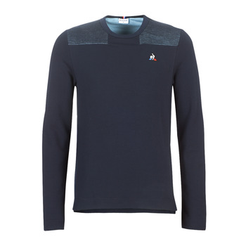 Clothing Men sweaters Le Coq Sportif Crew Sweat Effet Jean Sky