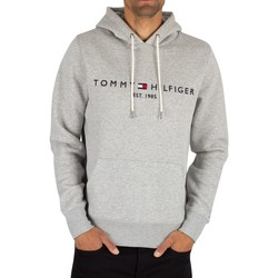 Clothing Men Sweaters Tommy Hilfiger Logo Pullover Hoodie grey