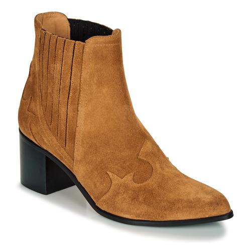 Shoes Women Ankle boots Emma Go BROOKLYN Cognac