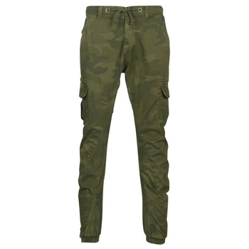 Clothing Men Cargo trousers Urban Classics CAMO CARGO JOGGING PANTS Camouflage