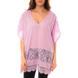 Clothing Women Short Dresses Lara Ethnics Tunique Courte Lina Violet Purple
