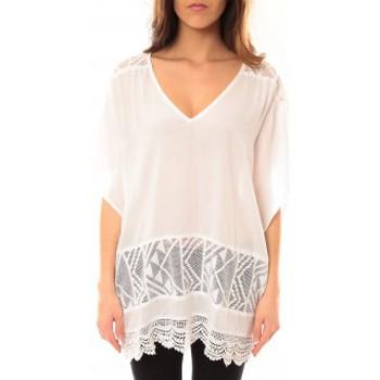 Clothing Women Short Dresses Lara Ethnics Tunique Courte Lina Blanc White