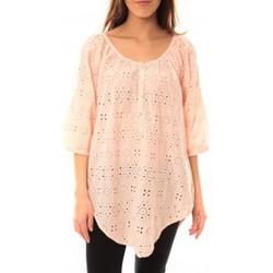 Clothing Women short-sleeved t-shirts Lara Ethnics Chemisier Maria Rose Pink