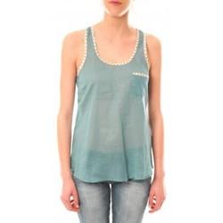 Clothing Women Tops / Sleeveless T-shirts Lara Ethnics Débardeur Ambre Vert Green