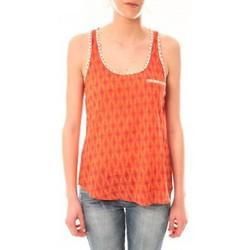 Clothing Women Tops / Sleeveless T-shirts Lara Ethnics Débardeur Ambre Orange Orange