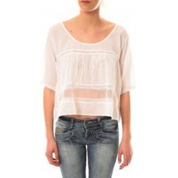 Clothing Women short-sleeved t-shirts Lara Ethnics Top Wendy Blanc White