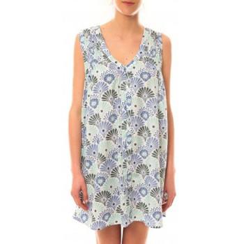 Clothing Women Short Dresses Lara Ethnics Robe Maia Bleu Blue