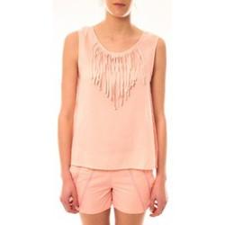 Clothing Women Tops / Sleeveless T-shirts Lara Ethnics Débardeur Maelys Rose Pink