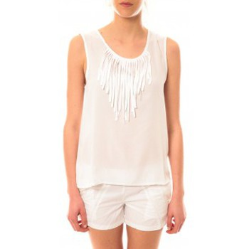 Clothing Women Tops / Sleeveless T-shirts Lara Ethnics Débardeur Maelys Blanc White