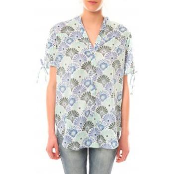 Clothing Women short-sleeved t-shirts Lara Ethnics Tunique Morgane Vert Green