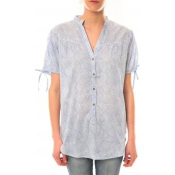 Clothing Women short-sleeved t-shirts Lara Ethnics Tunique Morgane Bleu Blue