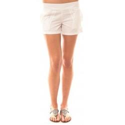 Clothing Women Shorts / Bermudas Lara Ethnics Short Lola Blanc White