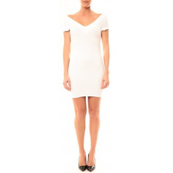 Clothing Women Short Dresses Vera & Lucy Robe Lucce LC-0312 Blanc White