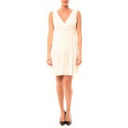 Clothing Women Short Dresses Vera & Lucy Robe Enzoria 9291 Beige Beige