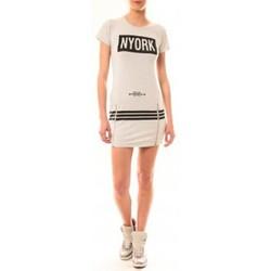 Clothing Women Short Dresses Vera & Lucy Robe New York MC1575 Gris Grey