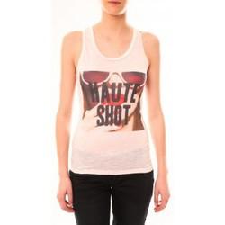 Clothing Women Tops / Sleeveless T-shirts By La Vitrine Débardeur D2703 Rose Pink