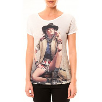 Clothing Women Short-sleeved t-shirts By La Vitrine Top Cowboy 1103 Blanc White