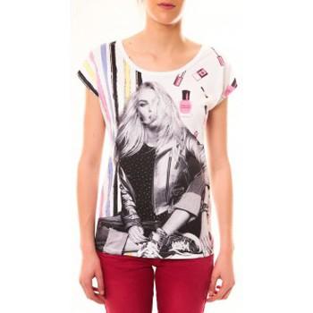 Clothing Women Short-sleeved t-shirts By La Vitrine Top Clara 1104 Blanc White