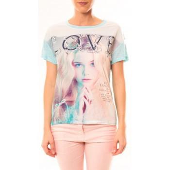 Clothing Women Short-sleeved t-shirts By La Vitrine Top Love B002 Vert Green