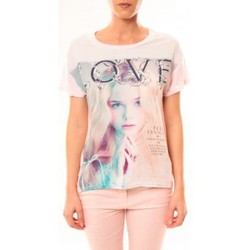 Clothing Women Short-sleeved t-shirts By La Vitrine Top Love B002 Rose Pink