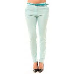 Clothing Women 5-pocket trousers Dress Code Pantalon Luizaco L705 Vert Green