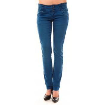Clothing Women Straight jeans Dress Code Jeans Rremixx RX320 Bleu Blue