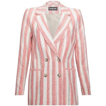 Clothing Women Jackets / Blazers Anastasia EX Next Pink Stripe Womens DB Blazer Pink
