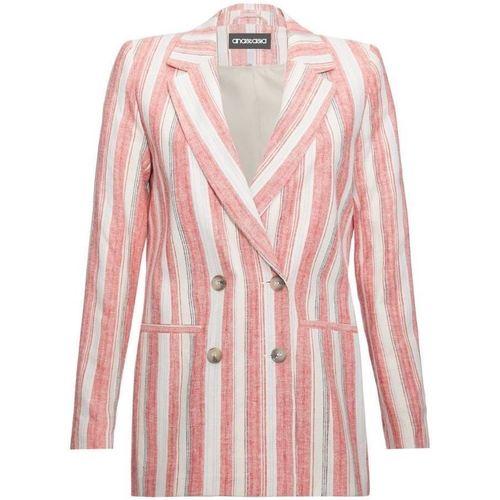 Clothing Women Jackets / Blazers Anastasia EX Next Pink Stripe Womens DB Blazer Pink