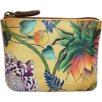 Bags Women Purses Anuschka 1031 Caribbean Garden -Hand Painted Leather Multicolour